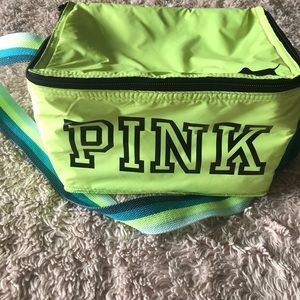 PINK Neon Yellow Lunch Bag/Cooler Bag